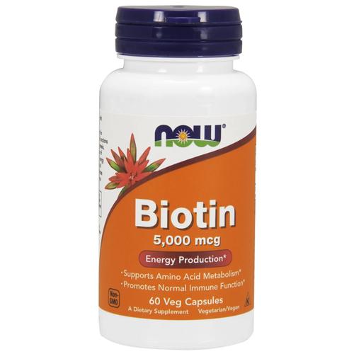 NOW Biotin 5000 mcg 60 caps