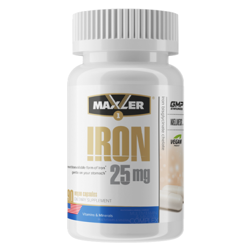 Maxler Iron 25 mg Bisglycinate Chelate 90 vcaps
