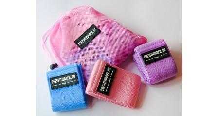 Fitivanfil Набор из 3 тканевых фитнес резинок в сумке