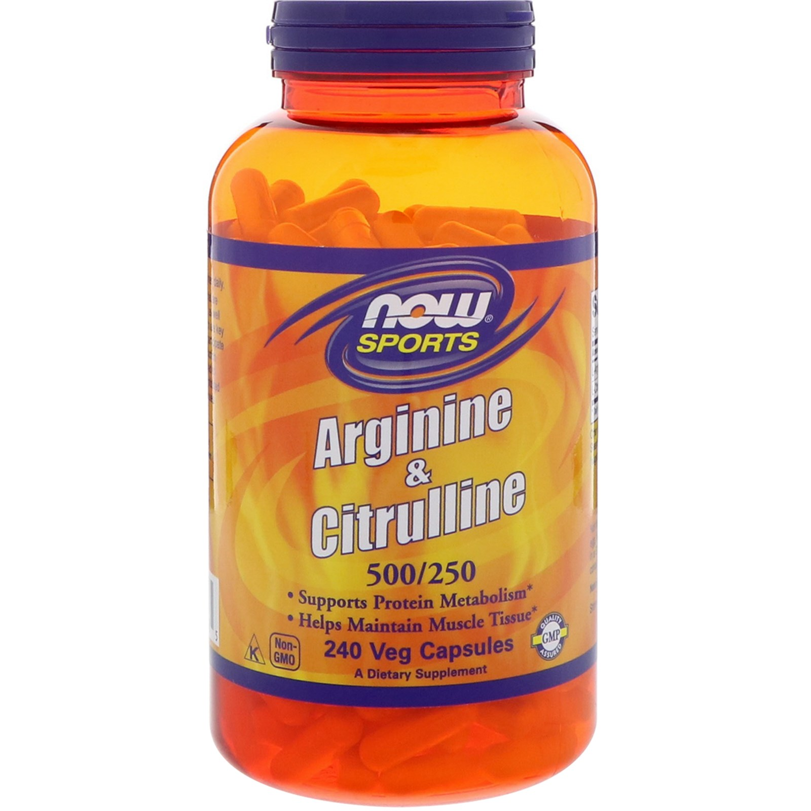 NOW Arginine 500 mg\Citrulline 250 mg 240 caps