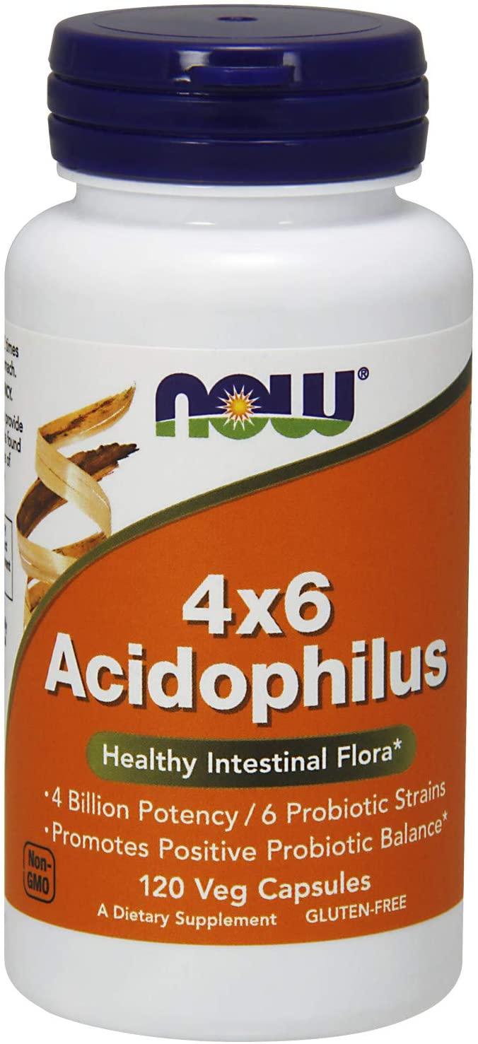 NOW 4×6 Acidophilus 120 caps