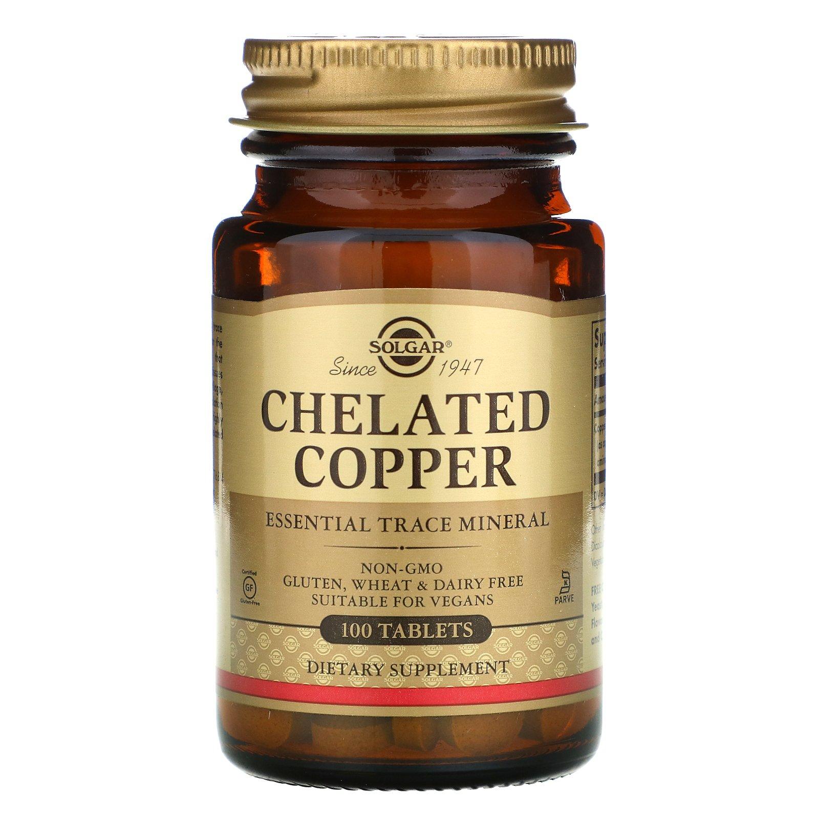 Solgar Chelated Copper 100 tab