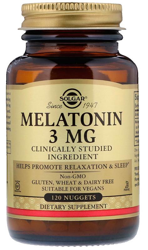 Solgar Melatonin 3 mg 120 nuggets