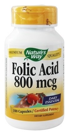 Nature's Way Folic Acid 100 caps