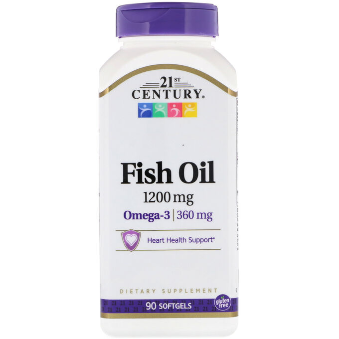 21st Century Fish Oil 1200 mg 90 softgels