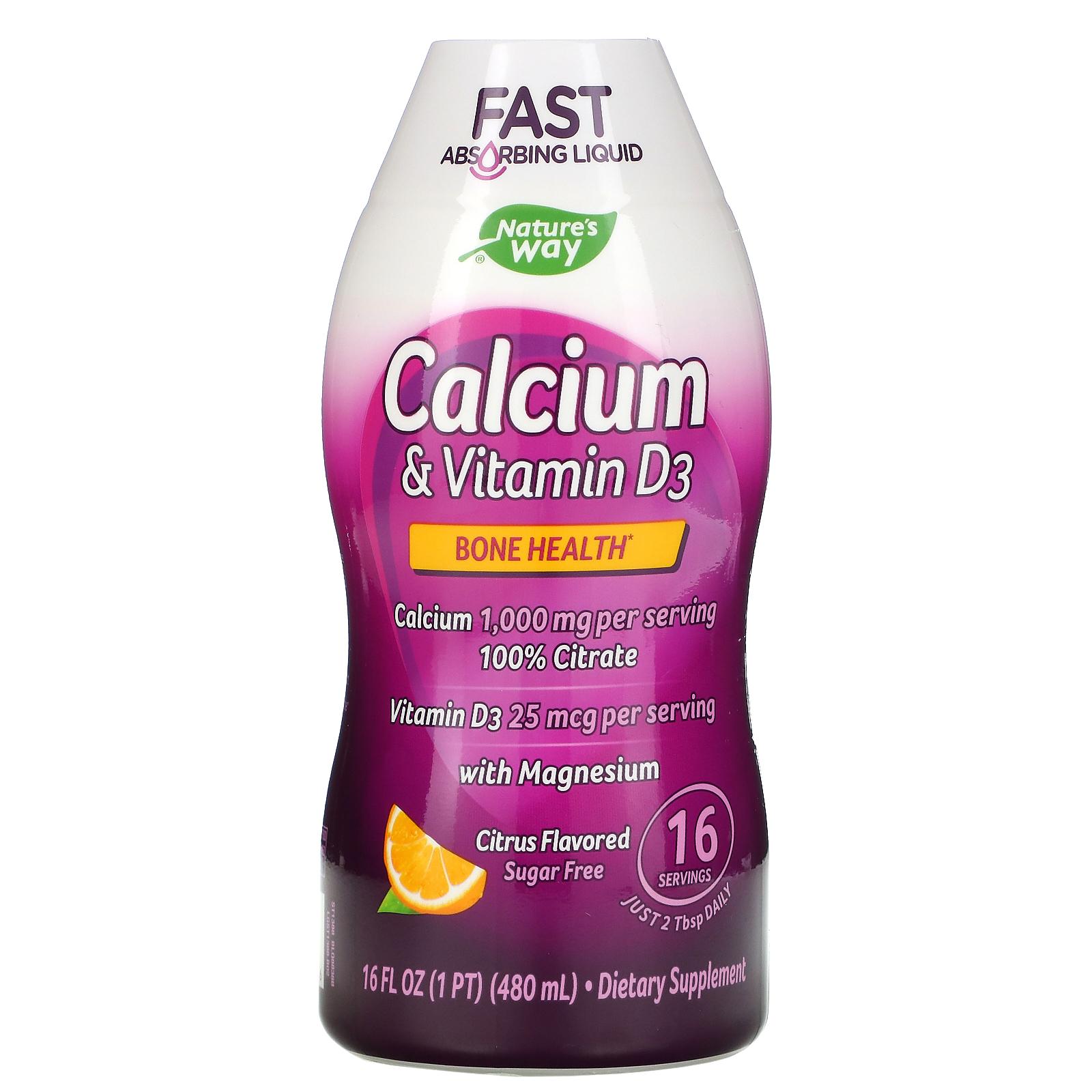 Nature's Way Calcium & Vitamin D3 480 ml