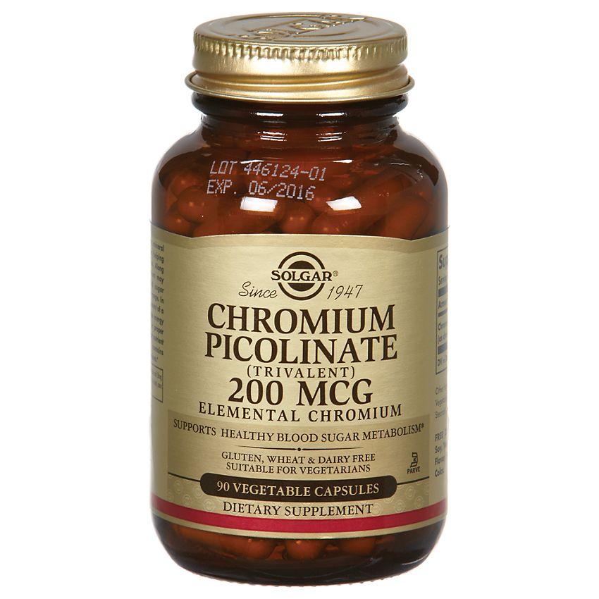 Solgar Chromium Picolinate 200 mcg 90 vcaps