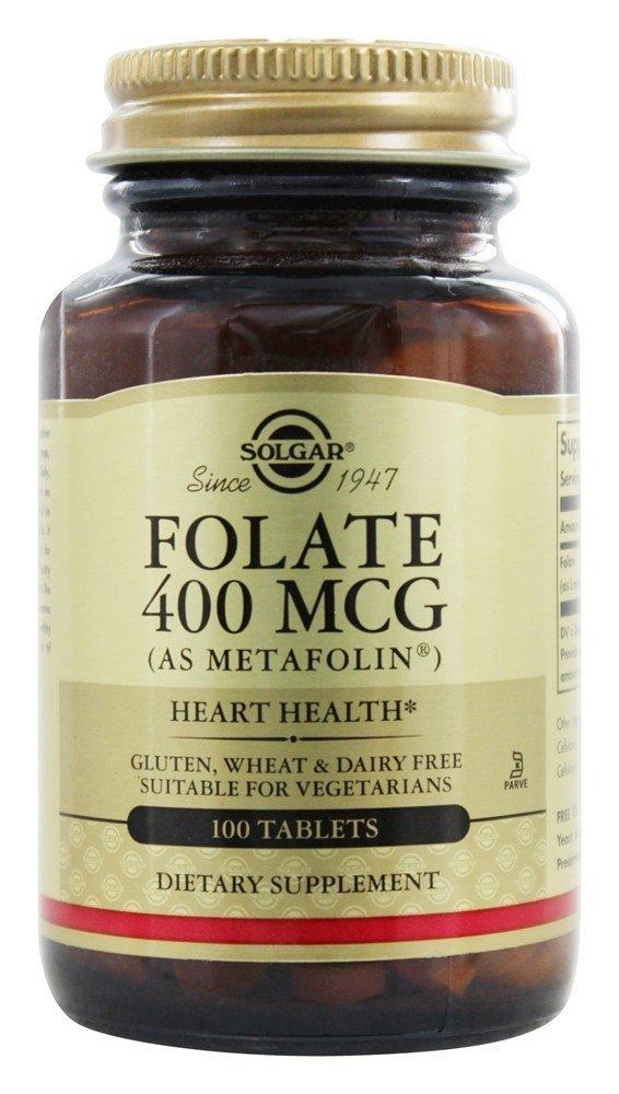 Solgar Folate Metafolin 400 mcg 100 tab