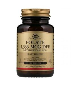 Solgar Folate Metafolin 800 mcg 100 tab