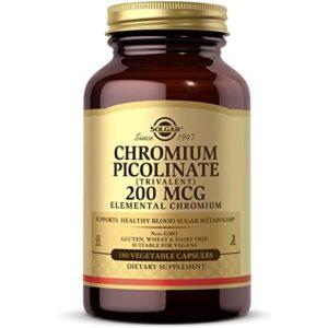 Solgar Chromium Picolinate 200 mcg 180 vcaps