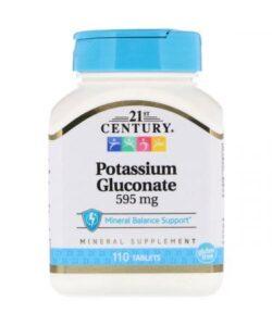 21st Century Potassium Gluconate 595 mg 110 tab