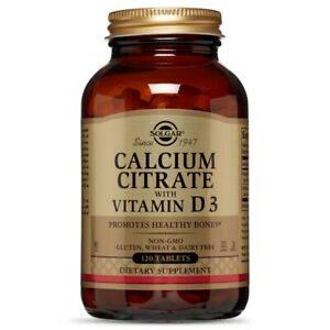 Solgar Calcium Citrate with Vitamin D3 120 tab