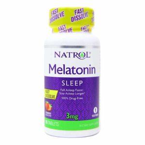 NATROL Melatonin 3 mg FAST DISSOLVE 90 tabs