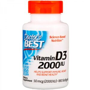 Doctor's Best Витамин D3(2000 МЕ), 180кап