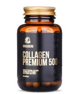 GRASSBERG Collagen Premium 500mg + Vit C 40mg 60 caps