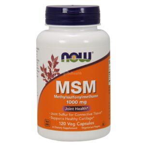 Now Foods, МСМ, 1000 мг, 120 растительных капсул