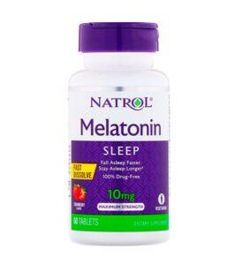 NATROL Melatonin 10 мг 60 табл. Быстрорастворимые