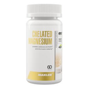 Maxler Chelated Magnesium (Bisglycinate Chelate form) 60 vegan tabs