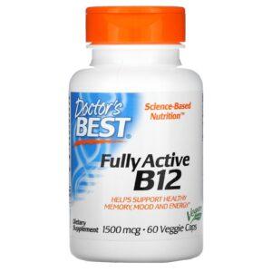 Doctor's Best, витамин B12, 1500 мкг, 60 капсул
